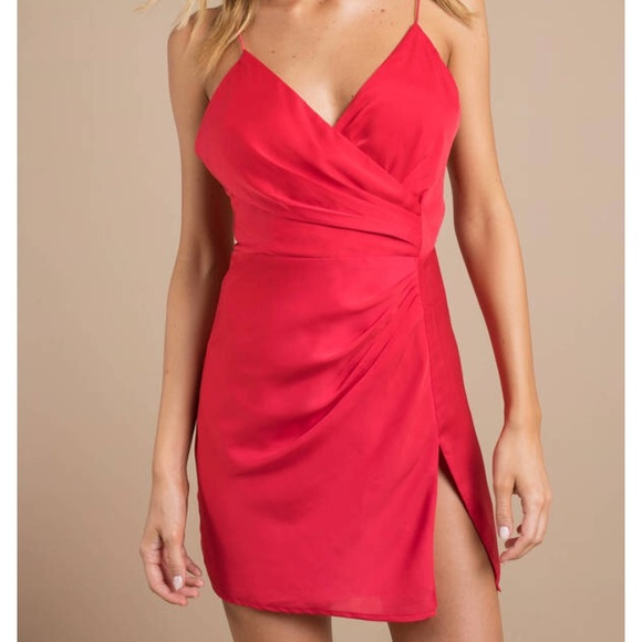 d1f121c80014 Tobi Dresses | New Krish Satin Wrap Dress | Poshmark